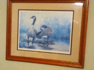 "Wall Picture Ducks Herbert Paul 2168 of 3000 signed 22.5""X18.5"""