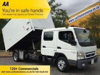 2012/ 61 Mitsubishi Canter 75 7c18 Crew D/Cab Tipper Box High Sided Alloy Body