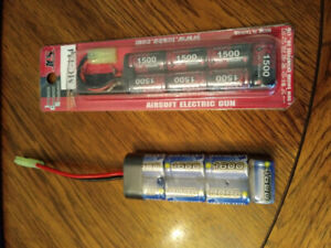 2 airsoft AEG batteries for sale
