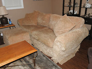 Couch & Ottoman Set