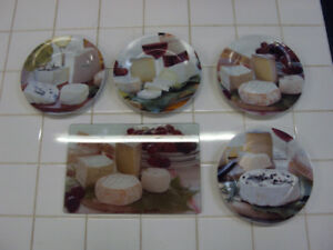 Cheese Platter and Matching Plates