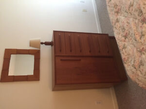 Teak  4 pc bedroom furniture and book case
