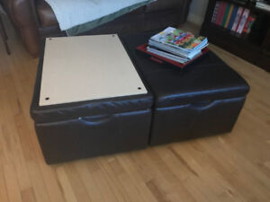 Leather Ottoman/Coffee Tables/Storage