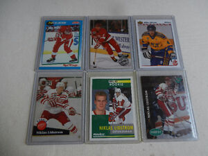 Hockey Cards NHL Niklas Lidstrom Rookie Cards Mint Lot of 6