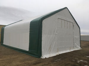 NEW DOUBLE TRUSS STORAGE FABRIC BUILDING SHELTER SHED RV BOAT