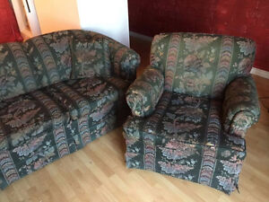 Free couch with matching chair - must come pick it up