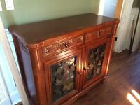 Solid Wood Hutch/Wine Holder