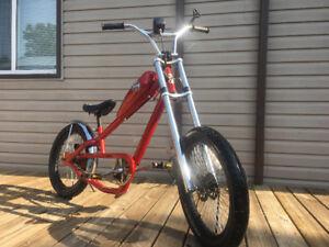 West coast chopper bike with brand new 49 cc 2 stoke motor & ev