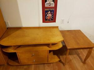Ensemble meuble télévision avec table