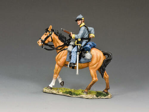 """King and Country CW111 """"Confederate Cav Trooper Loading"""" 1/30 Metal Toy Soldier"""