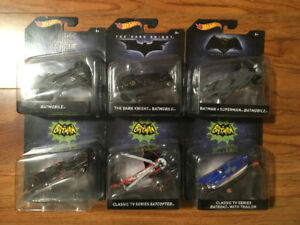 Hot Wheels Batman Series. 1/50 scale. 7 Diecast Batmobile