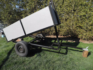 dump trailer and new 3 stage hydraulic cylinders