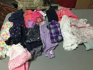 Box of baby girl clothing (size 0-3 months)