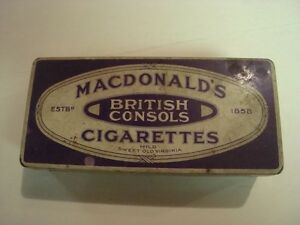 Macdonalds British Consoles Tin