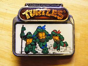 Vintage Teenage Mutant Ninja Turtles Belt Buckle - 1988