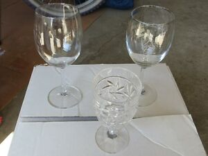 Various Wine Glasses - Some Are Real Crystal!