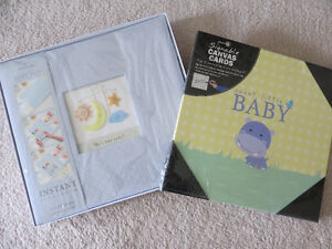 HALLMARK BABY BOY INSTANT SCRAPBOOK AND SIGNABLE CANVASS CARD