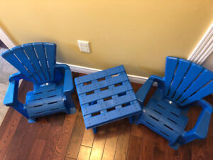 Toddler Adirondack Chairs and Table