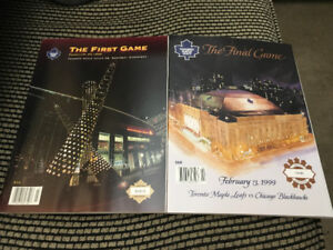 "Maple Leafs ""First Game"" + ""The Final Game"" Limited Edition"