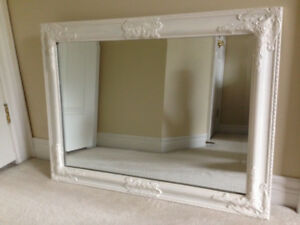 VINTAGE Style SHABBY CHIC WOOD Frame BEVELLED GLASS Mirror