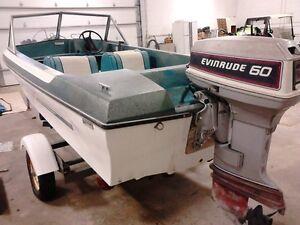 Classic 14 ft. Glascon fiberglass boat, motor and trailer Regina Regina Area image 5