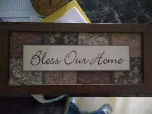 Bless our home wall hanger Kitchener / Waterloo Kitchener Area image 1