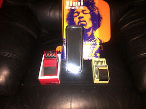 Jimi Hendrix, Boss, and Ibanez pedals - see ad for prices