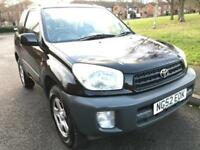 TOYOTA RAV 4 1.8 VVTI NV (2002 52) SPORTY BLACK 3 DOOR