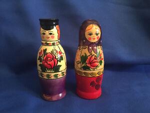 Russian Nesting Doll Style Salt & Pepper Shakers.