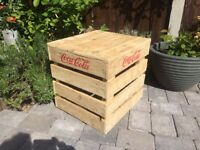 Coca Cola Wooden Crate Table Box Seat