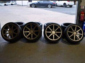 "Ex Display 19"" Matt Carbon Bronze Ispiri ISR8 Alloy Wheels for a F30 and F31 BMW"