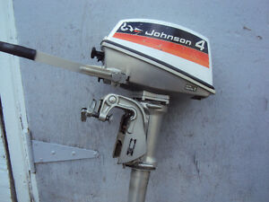 4 HP OUTBOARD JOHNSON OUTBOARD FOR SALE.