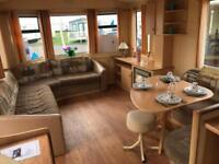 8 berth starter static caravan in the West of Scotland, Ayrshire.