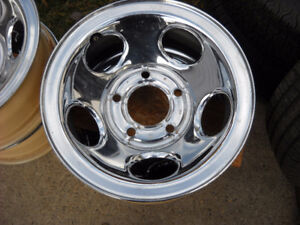 "4-New Factory Dodge Truck chrome ralley wheels 5x 5 1/2"" B.C"