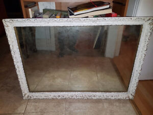 """Gorgeous large / heavy 24"""" by 36"""" antique mirror in Shabby Chic"""