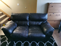Free Leather Sofa and Loveseat Set