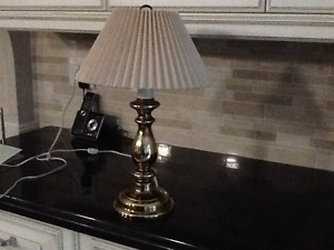 Table lamps, shades, bathroom wall fixture, ceiling fixtures