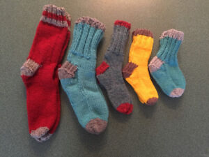 knitted socks,slippers,barbie doll clothes for sale