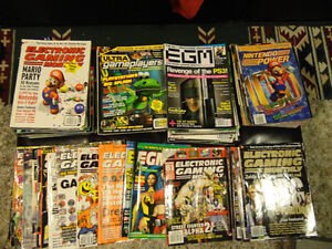 90 oldschool video game magazines mid 90's-early 2000s