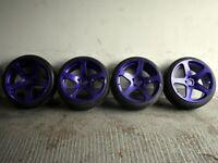 "18"" Performa Alloy Wheels 5x112 for Audi A4, VW Passat, Scirocco Etc"
