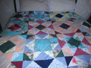 Handmade, hand stitched Quilt double or Queen Bed