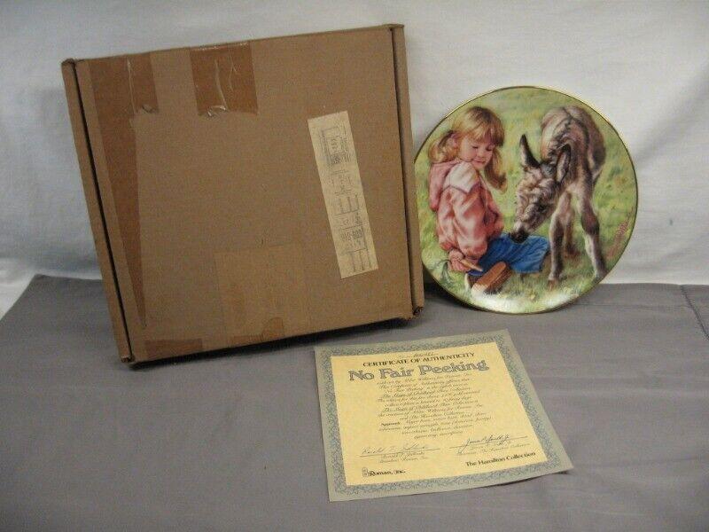 """Hamilton Collection """"No Fair Peeking"""" Plate #0A004B1 #8 CIA c 1985 MIB"""