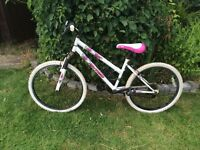 "Girl Pink & White Mountain Bike 24"" Wheel"