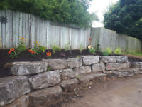 Landscaping  and all concrete