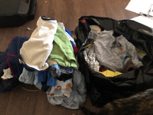 Bag of boys 0-3 months clothing