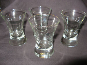 4 larger shot glasses FOR THE MAN CAVE