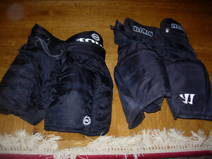 Assorted hockey equipment - youth (bottoms, chest, shin,elbow)