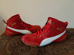 Puma vintage Schattenboxen red suede and leather shoes