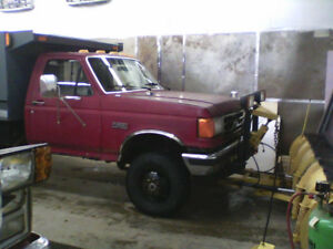 1991 Ford F-350 Pickup Truck 7.3 diesel/10 foot plow and dump