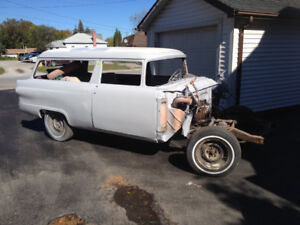 1956 Ford Meteor 2 Door Ranch Wagon no drive train project car